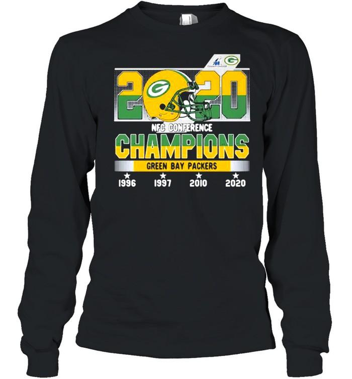 2020 Nfc Conference Champions Green Bay Packers Football shirt Long Sleeved T-shirt