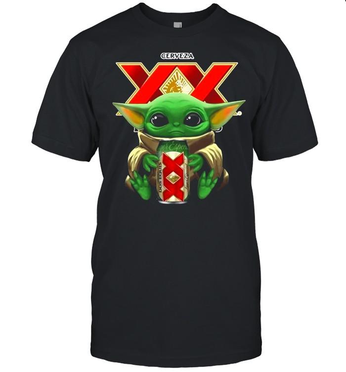 Baby Yoda Hug Cerveza Dos Equis shirt