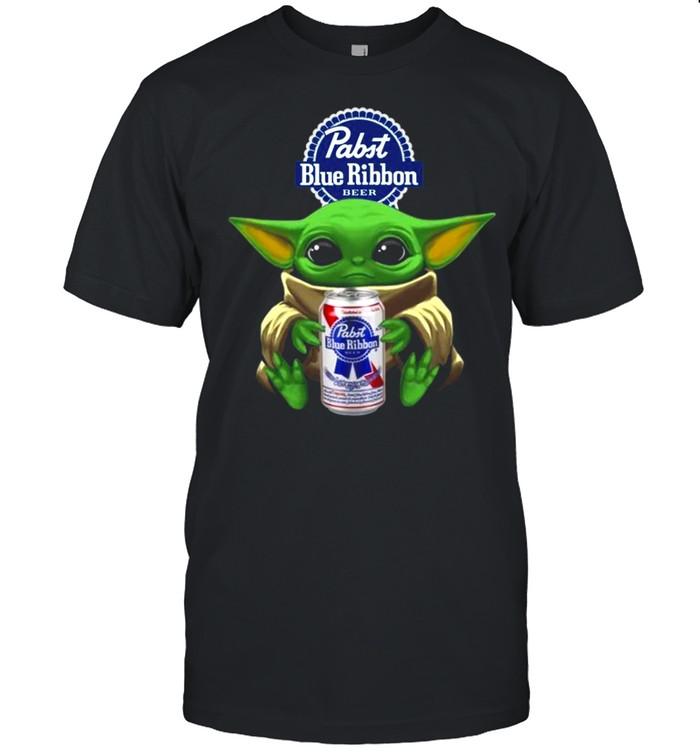 Baby Yoda Hug Pabst Blue Ribbon Beer 2021 shirt