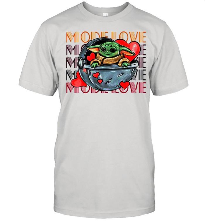 Baby Yoda The Mandalorian Mode Love tshirt