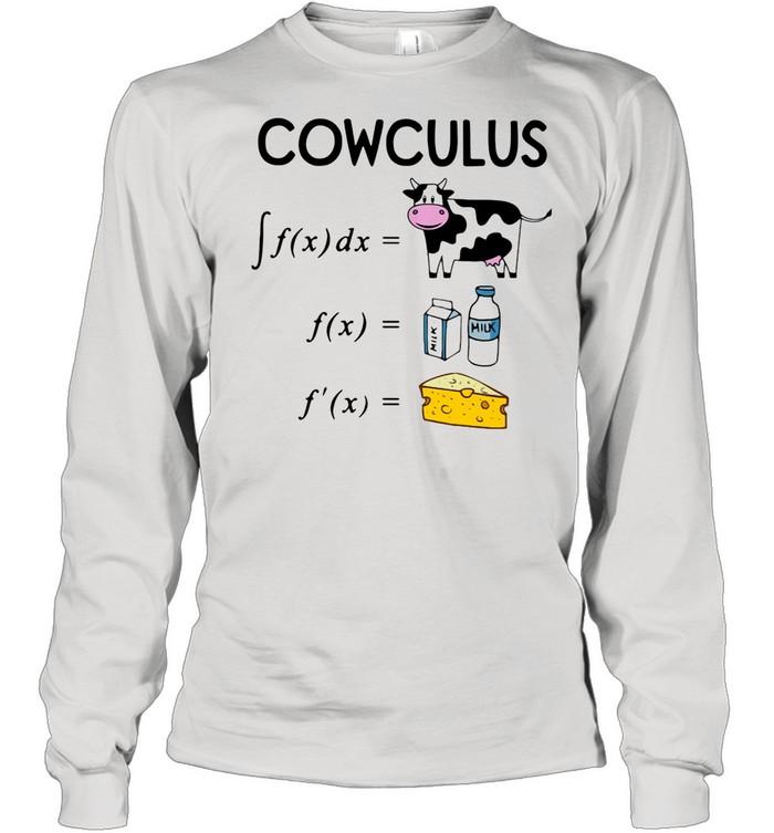 Cowculus F(x)dx F(x) F'(x) shirt Long Sleeved T-shirt