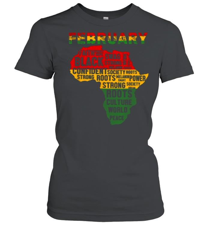 February Faith Trust Hope Black Confident shirt Classic Women's T-shirt
