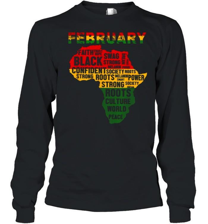 February Faith Trust Hope Black Confident shirt Long Sleeved T-shirt