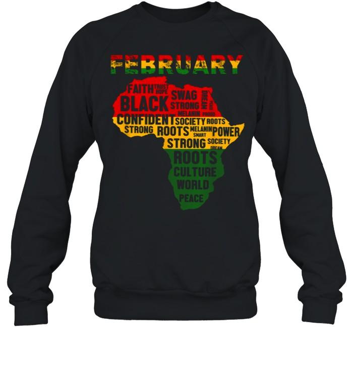 February Faith Trust Hope Black Confident shirt Unisex Sweatshirt