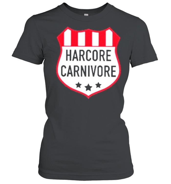 Hardcore carnivore shield shirt Classic Women's T-shirt