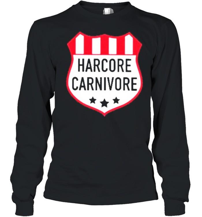 Hardcore carnivore shield shirt Long Sleeved T-shirt