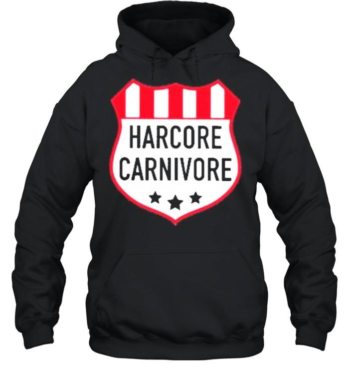Hardcore carnivore shield shirt Unisex Hoodie