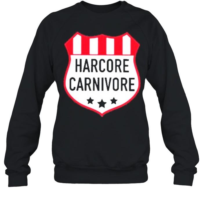 Hardcore carnivore shield shirt Unisex Sweatshirt