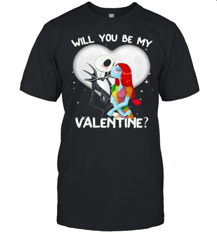 Jack Skellington and Sally will you be my Valentine 2021 shirt Classic Men's T-shirt