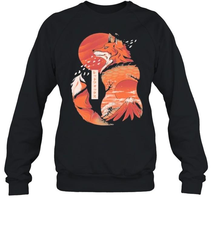 Japanese fox shirt Unisex Sweatshirt