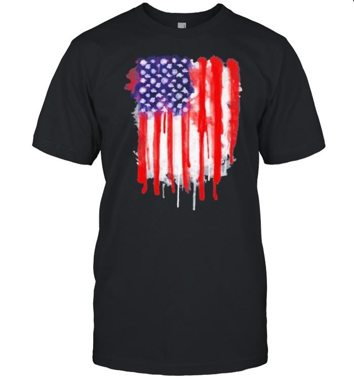 American Spatter Flag shirt