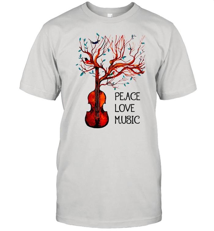 Viola – Peace And Love Music shirt