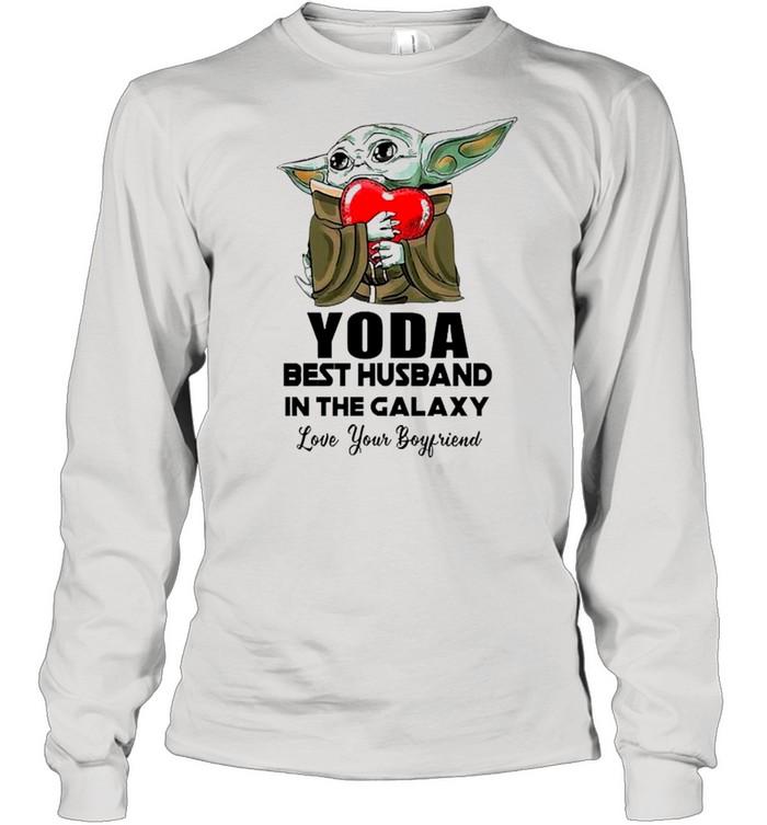 Yoda Best Husband In The Galaxy Love Your Boyfriend shirt Long Sleeved T-shirt
