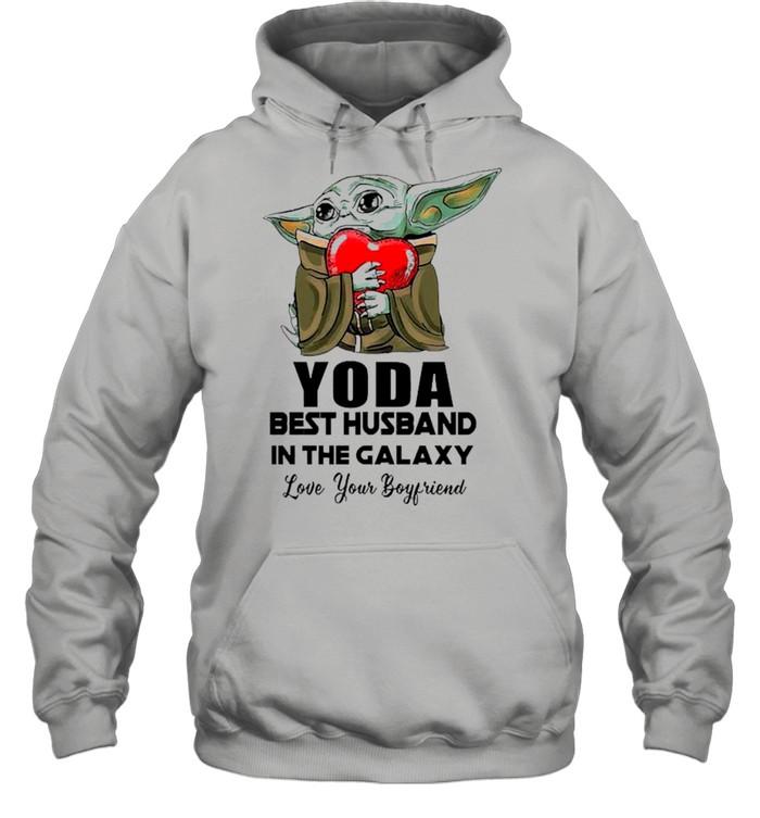 Yoda Best Husband In The Galaxy Love Your Boyfriend shirt Unisex Hoodie