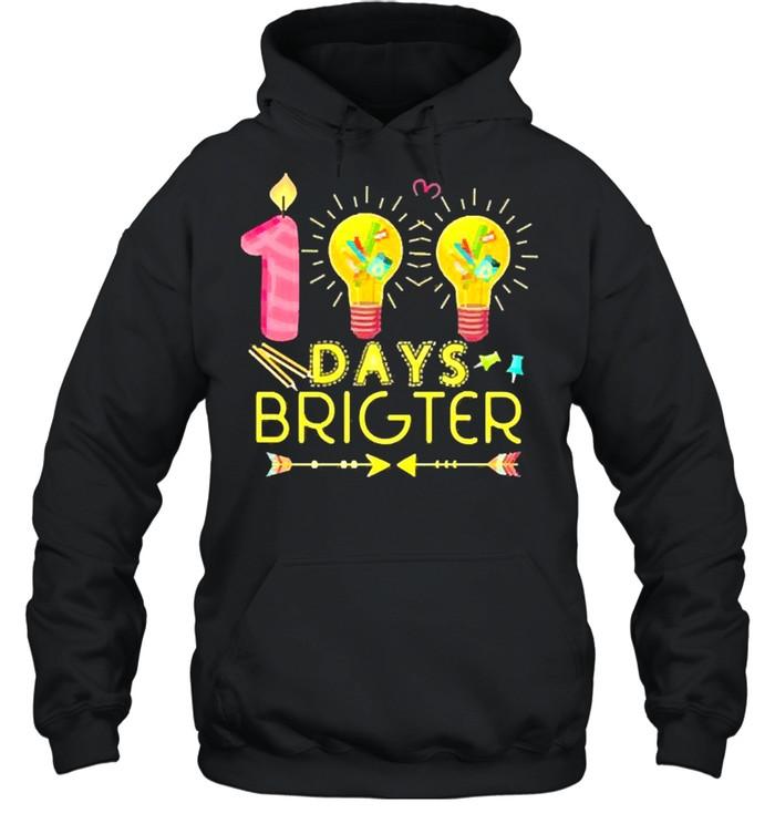 100 days brighter shirt Unisex Hoodie
