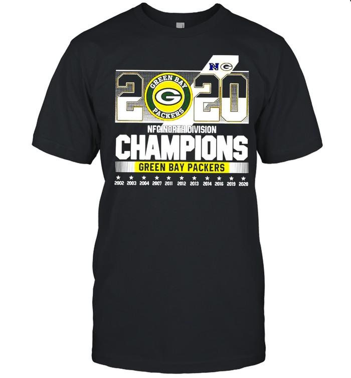 2020 Green Bay Packers North Division Champions Stars shirt