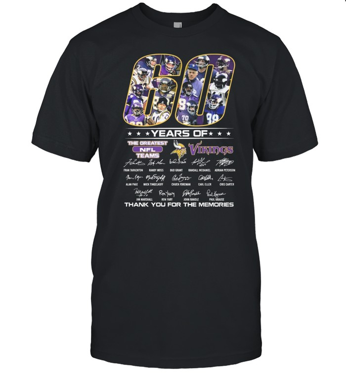 60 Years Of The Greatest Nfl Teams Vikings Signature shirt