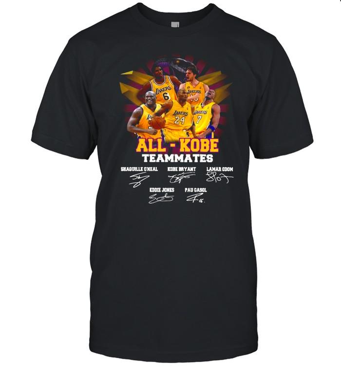 All Kobe Teammates 2021 Signatures shirt
