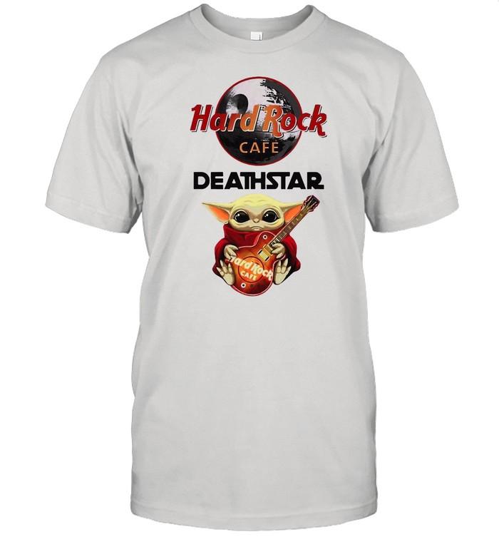 Baby Yoda Hug Hard Rock Cafe Deathstar 2021 shirt