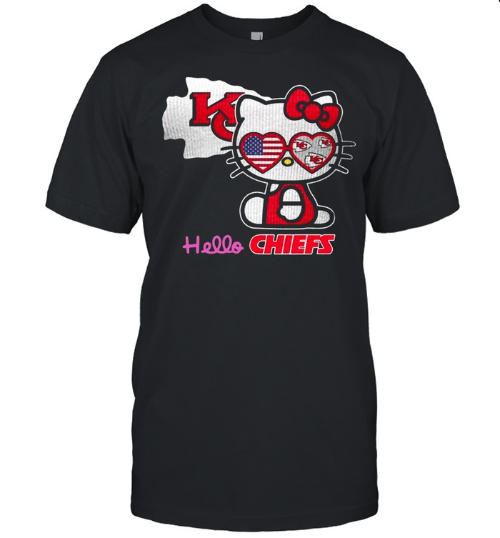 Hello Kitty Hello Kansas City Chiefs With American Flag 2021 shirt