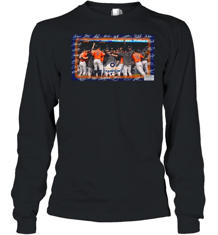 Houston Astros World Series Champions 2021 Signatures shirt Long Sleeved T-shirt