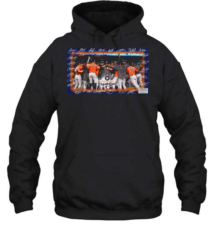 Houston Astros World Series Champions 2021 Signatures shirt Unisex Hoodie