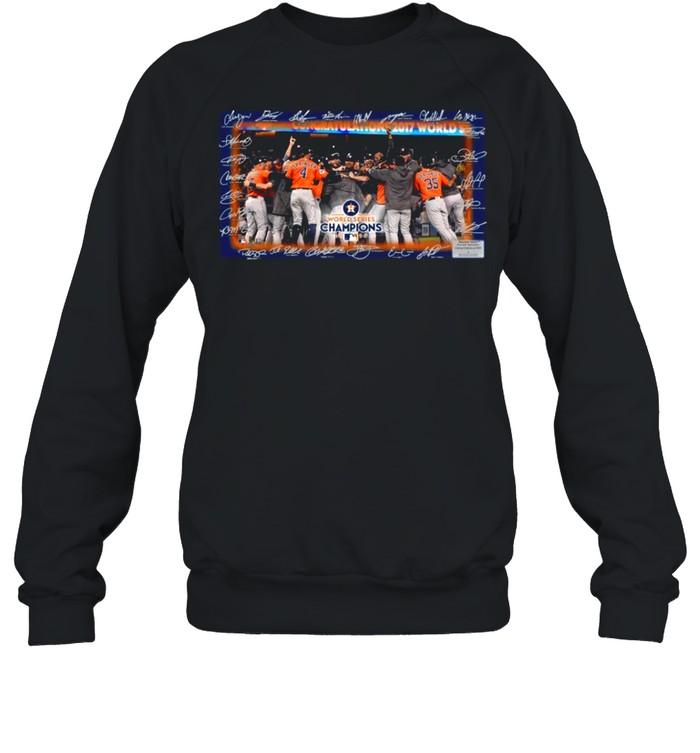 Houston Astros World Series Champions 2021 Signatures shirt Unisex Sweatshirt