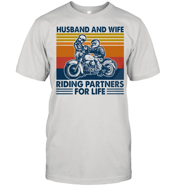 Husband And Wife Riding Partners For Life 2021 Vintage shirt