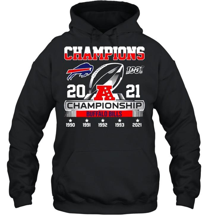 The Champions 2021 Afc Championship With Buffalo Bills shirt Unisex Hoodie