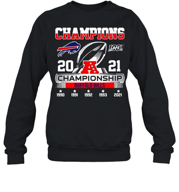 The Champions 2021 Afc Championship With Buffalo Bills shirt Unisex Sweatshirt
