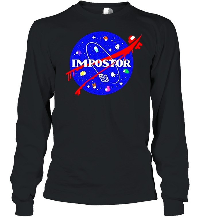 Among us impostor nasa shirt Long Sleeved T-shirt