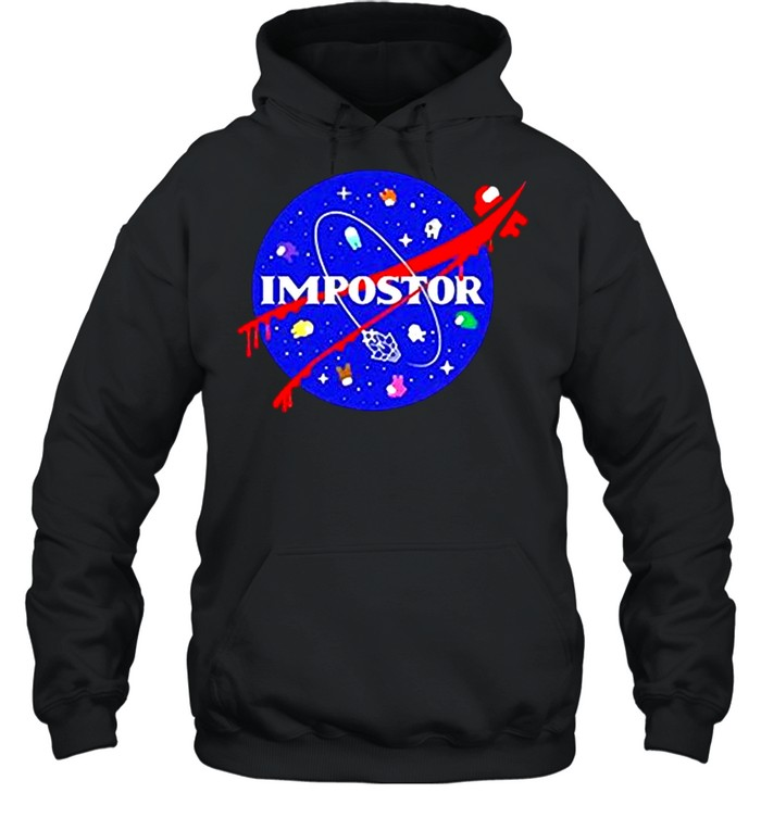 Among us impostor nasa shirt Unisex Hoodie