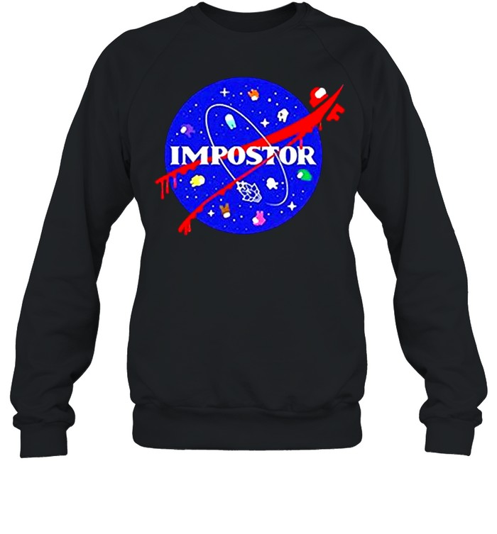 Among us impostor nasa shirt Unisex Sweatshirt