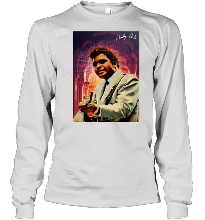 Charley Pride signature tshirt Long Sleeved T-shirt