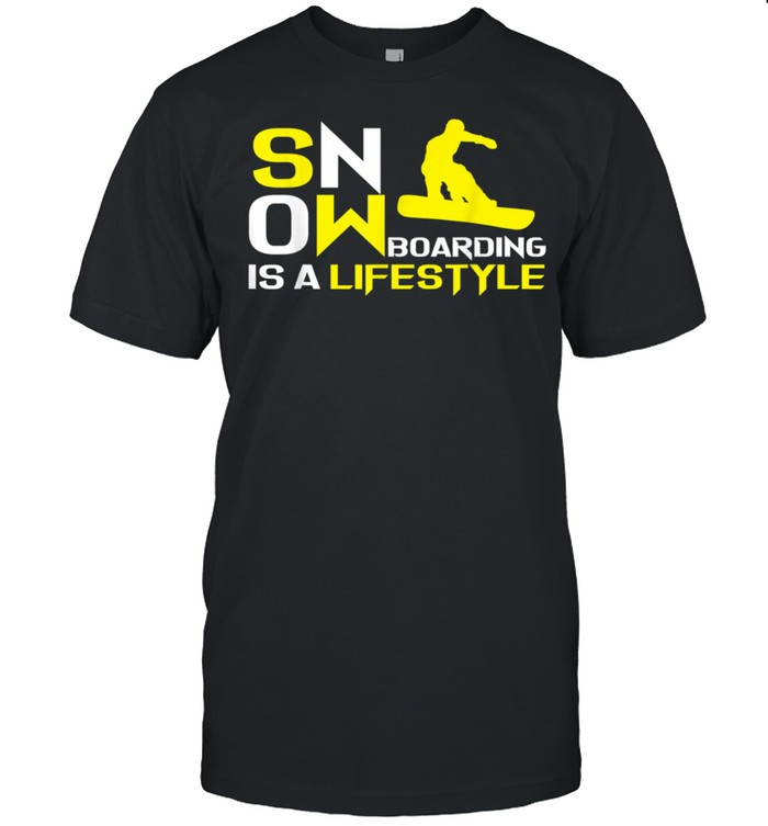 Snowboarding Is A Lifestyle Snowboard Snowboarder shirt Classic Men's T-shirt