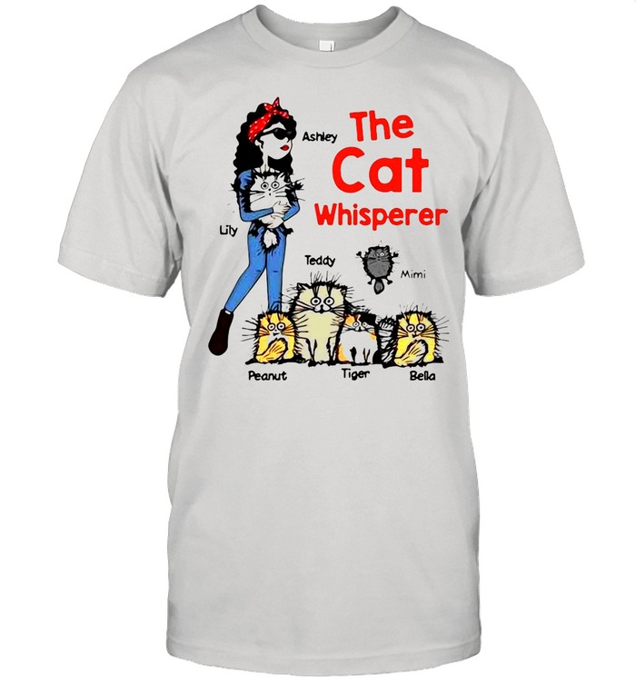 The Cat Whisperer Woman And Funny Cats Personalized shirt