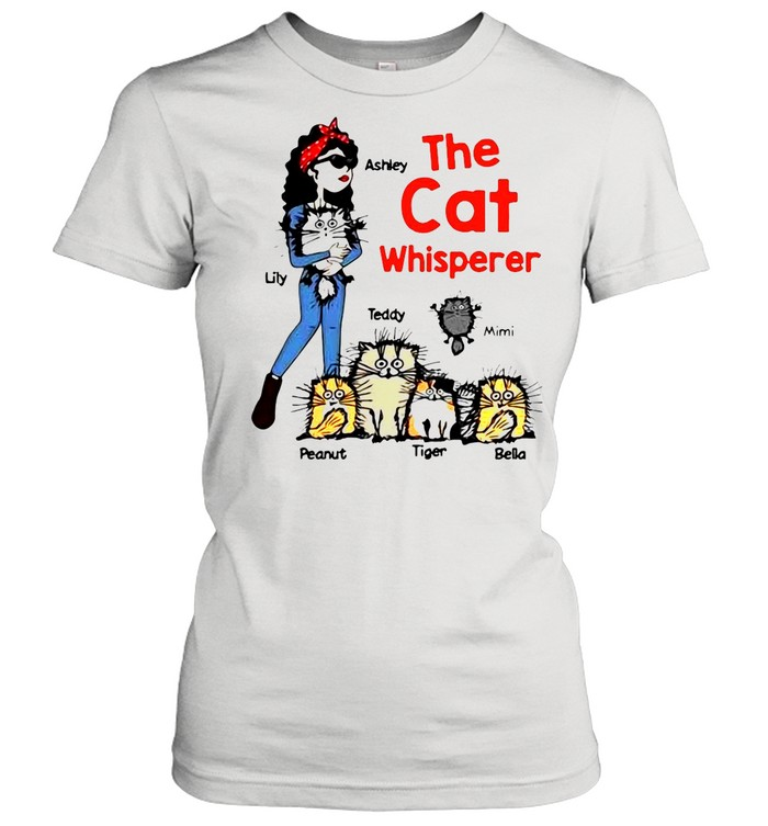 The Cat Whisperer Woman And Funny Cats Personalized shirt Classic Women's T-shirt