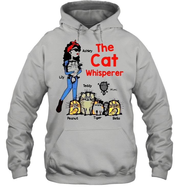 The Cat Whisperer Woman And Funny Cats Personalized shirt Unisex Hoodie