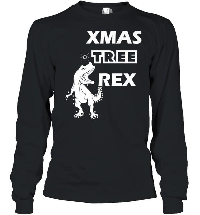Xmas Tree Rex Dinosaur Christmass shirt Long Sleeved T-shirt