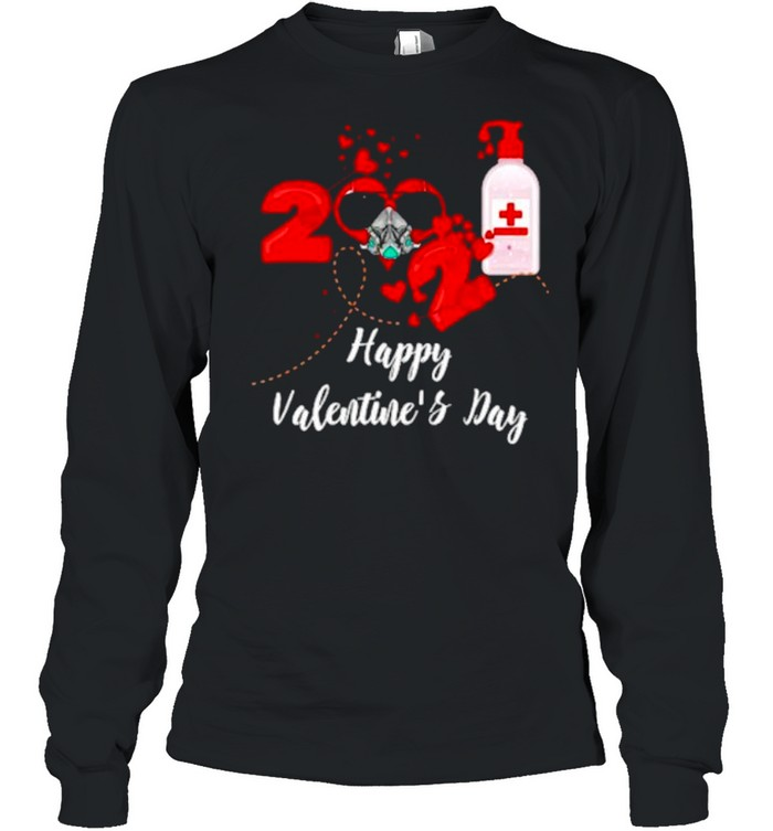 2021 Covid19 Happy Valentines Day shirt Long Sleeved T-shirt