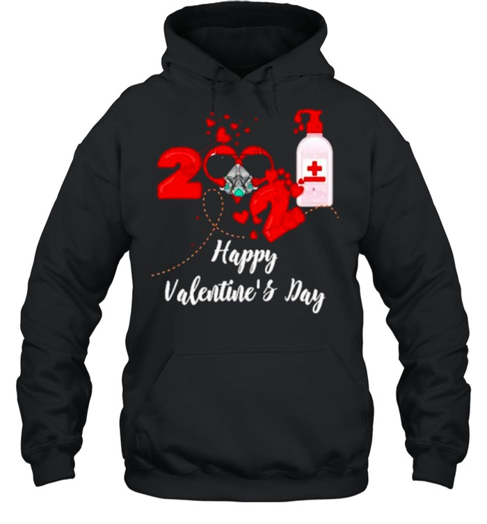 2021 Covid19 Happy Valentines Day shirt Unisex Hoodie