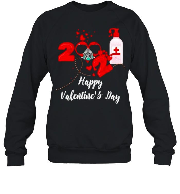 2021 Covid19 Happy Valentines Day shirt Unisex Sweatshirt