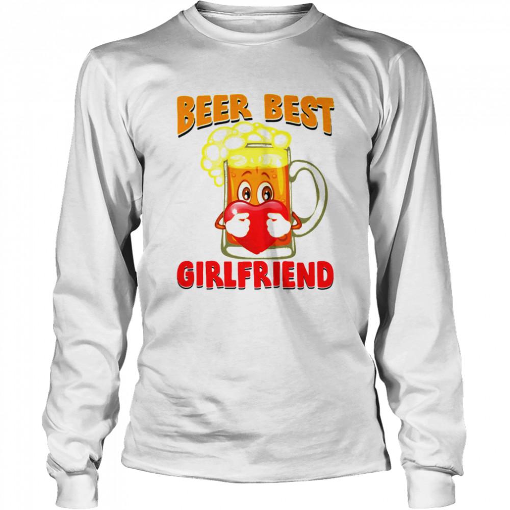Beer Best Girlfriends Heart shirt Long Sleeved T-shirt