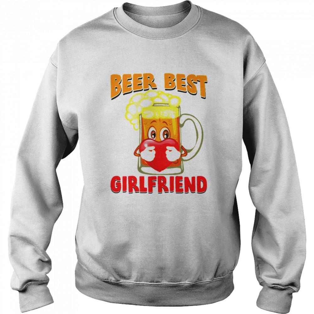 Beer Best Girlfriends Heart shirt Unisex Sweatshirt