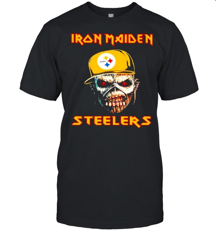 Iron Maiden Wear Hat Logo Steelers Football shirt