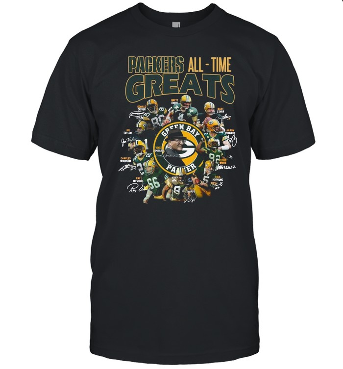 Packers All Time Greats Team Signature shirt Classic Men's T-shirt