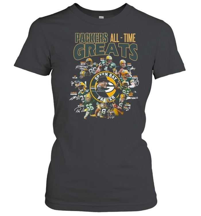 Packers All Time Greats Team Signature shirt Classic Women's T-shirt