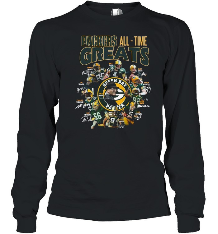 Packers All Time Greats Team Signature shirt Long Sleeved T-shirt
