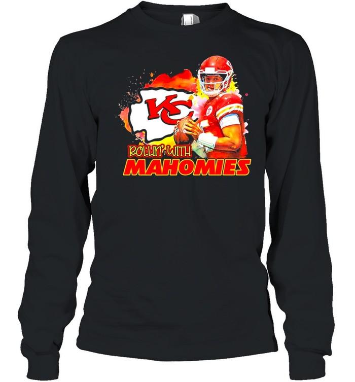 Rollin with Mahomies Kansas City shirt Long Sleeved T-shirt
