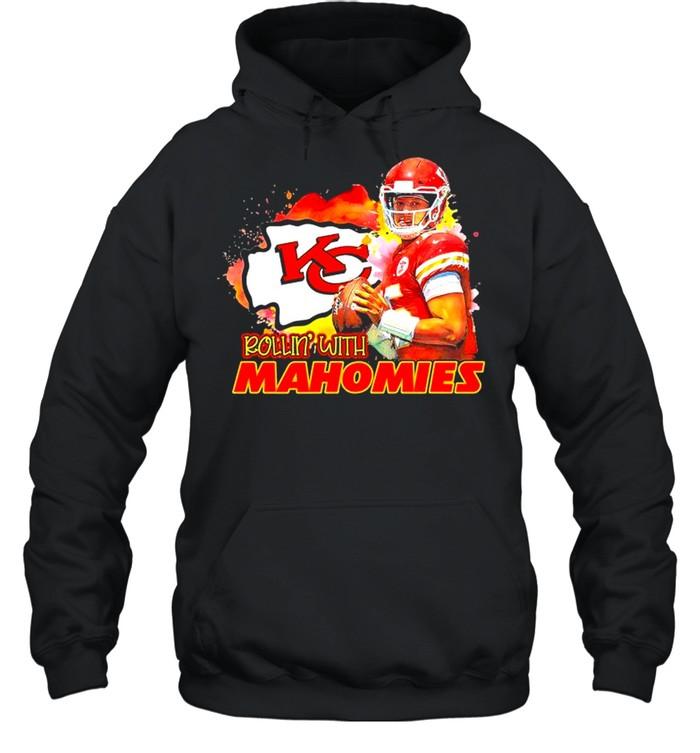 Rollin with Mahomies Kansas City shirt Unisex Hoodie